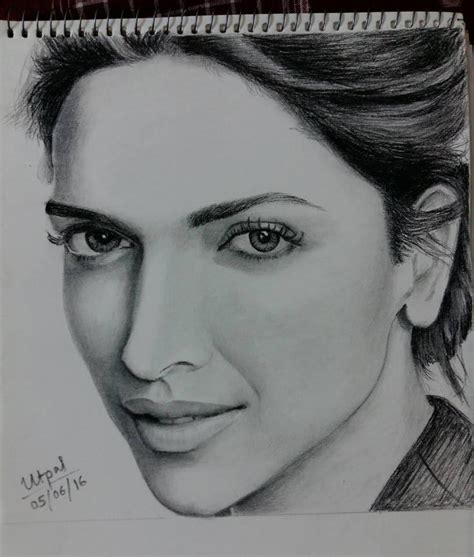 deepika padukone drawing deepika padukone pencil sketch by utpal123 on deviantart