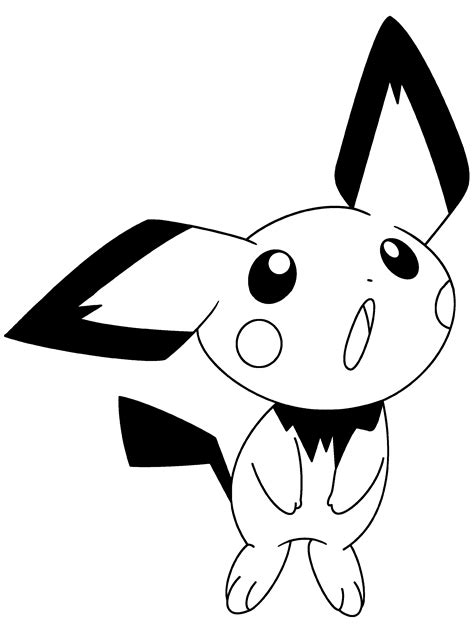 pichu pokemon coloring pages