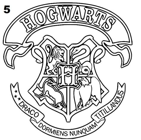 harry potter coloring book usa epic hogwarts crest coloring page 74 for your coloring
