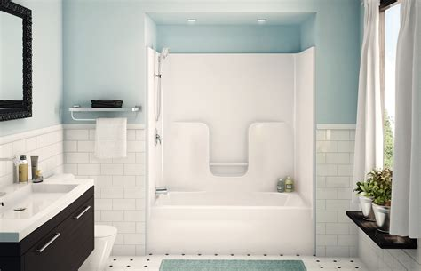 Modern Bath And Shower Combo by Bath And Shower Combo With Modern Bath Shower Combo With White Subway Tile Design Popular Home