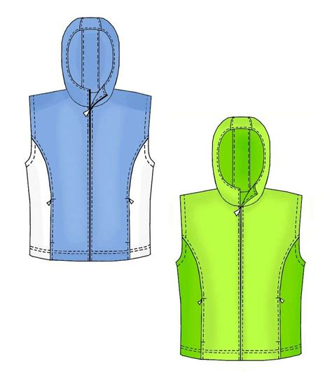 sewing pattern waistcoat hooded waistcoat sewing pattern 7166 made to measure