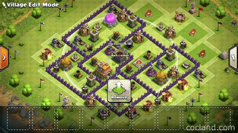 town hall 7 base town hall 7 hybrid base clash of clans land