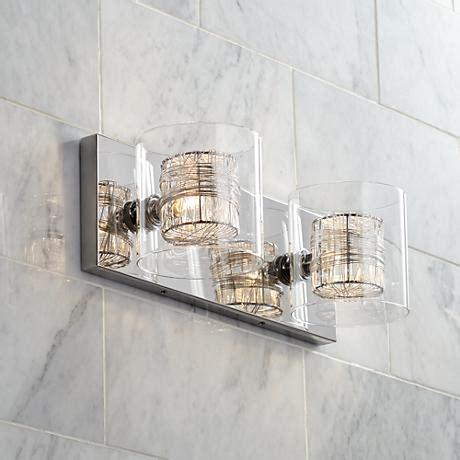 possini euro design wrapped wire 56 wide bathroom light possini euro design wrapped wire 14 quot wide bathroom light