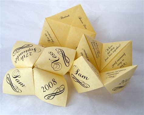 Origami Favors - 4 delightful diy wedding ideas goods awesome living