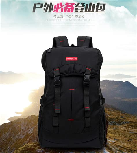 Tas Ransel Outdoor Gunung Cing Mountaineering 60l tas gunung outdoor waterproof black jakartanotebook