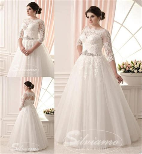 Plus Size Wedding Dresses With Sleeves by Dress Plus Size Wedding Dresses A Line Wedding Dresses