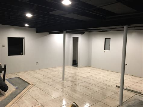 exposed black dryfall basement ceiling finishing basement