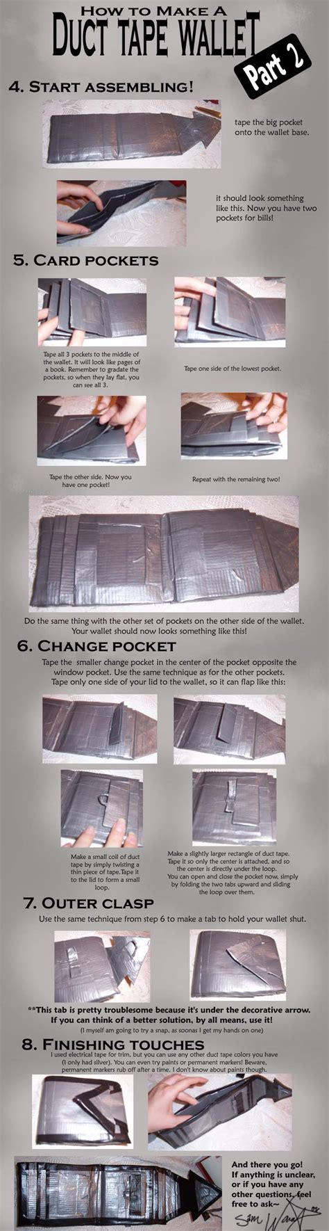 printable instructions how to make a duct tape wallet duct tape wallet tutorial 2 by akireru on deviantart