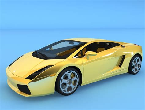 Lamborghini Gallardo Model Car Lamborghini Gallardo 2005 Car 3d Model Max Cgtrader