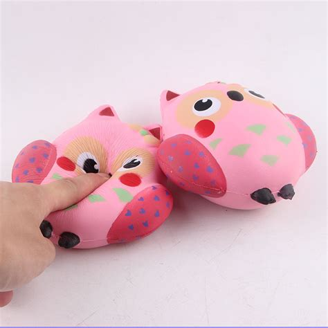 Squishy Doll Owl pu simulation pink owl squishy office relief toys at