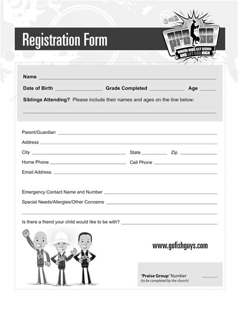 Printable Church Forms Pictures To Pin On Pinterest Pinsdaddy Church Registration Form Template