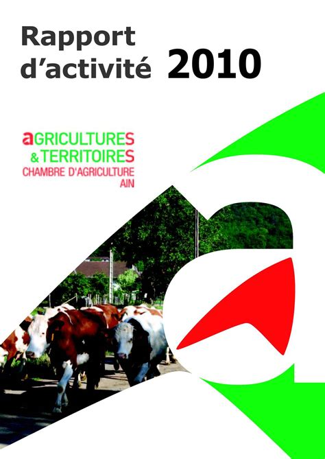 chambre d駱artementale de l agriculture calam 233 o rapport d activit 233 2010 chambre d agriculture