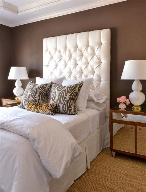 brown and white bedroom leopard pillows transitional bedroom benjamin moore