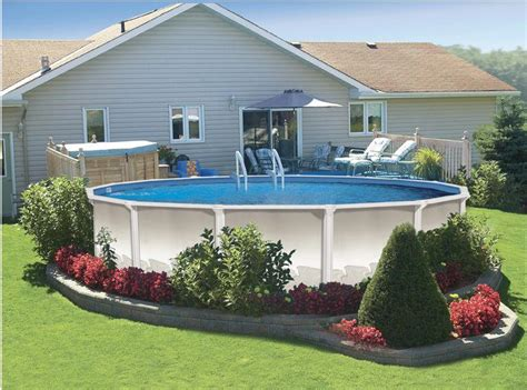 landscape ideas around pool above ground pool landscaping ideas home decorating ideas