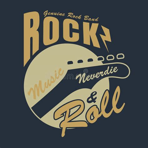 design t shirt rock vector rock and roll graphic for t shirt vector illustration