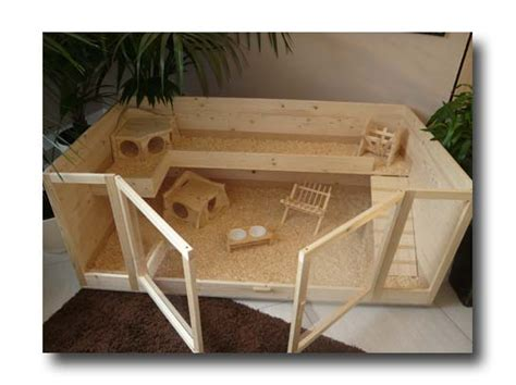 meerschweinchen stall bauen kaefig selber bauen aus holz xoppla