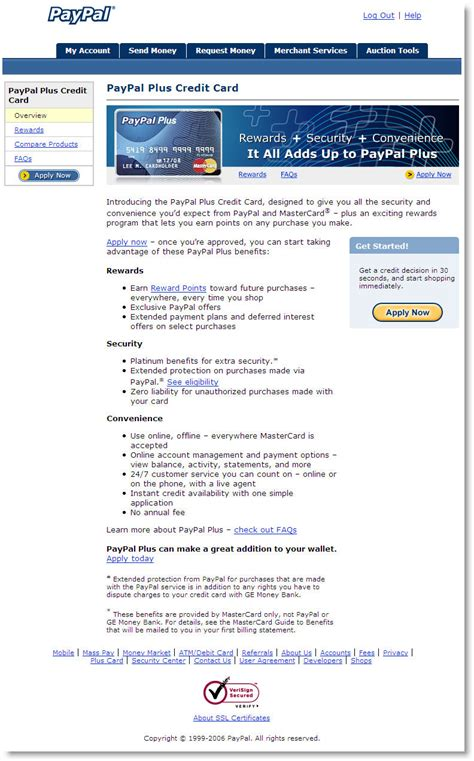 Apply Ebay Gift Card To Paypal Account - paypal s 30 second credit card application finovate