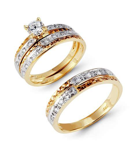 gold wedding rings for wedding promise