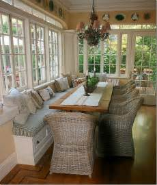 Dining Room Bench Seat Bench Seating In Front Of Kitchen Windows Use Different Chairs And Table Different Fabric