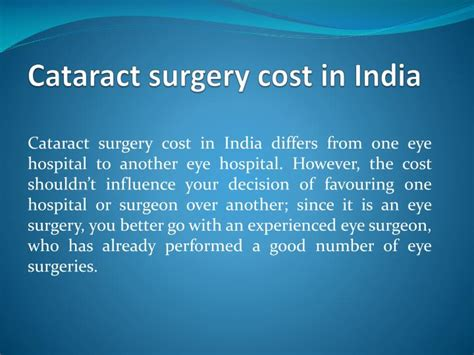 cataract surgery cost ppt step by step guide to cataract surgery in india powerpoint presentation id 7346432
