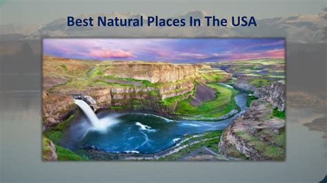 best nature places in usa ppt best natural places in the usa powerpoint
