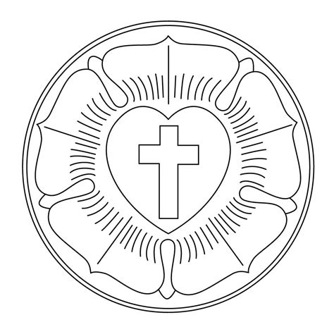 Luther Coloring Page lutheran church the luther