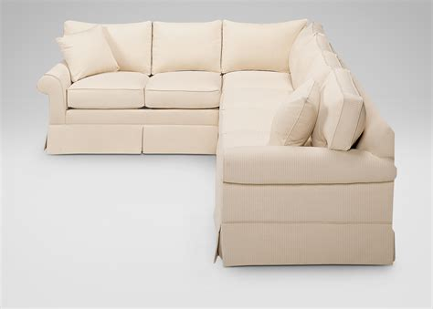Roll Arm Sectional Sofa roll arm skirted sectional sectionals