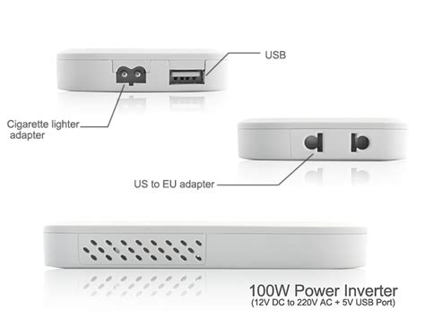 Power Inverter Merk Tbe 100w Watt With Port Usb 5v 1 100w power inverter with 5v usb port 12v dc to 220v ac tvr e170 us 16 27