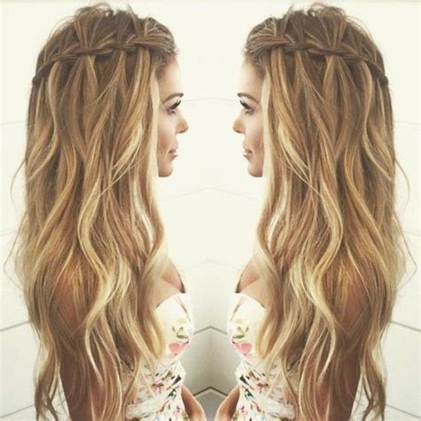 summer hairstyles long curly hair 10 pretty waterfall french braid hairstyles different