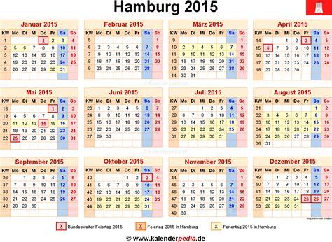 Feiertage Kalender 2015 Kalender 2015 Hamburg Ferien Feiertage Excel Vorlagen