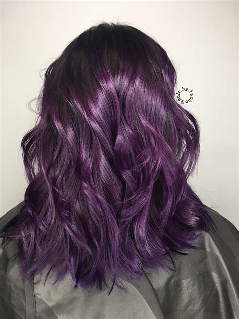 black amethyst hair color purple hair winter hair color unique color ideas plum