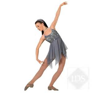 Silver grey contemporary lyrical ballet dress dance costume ebay