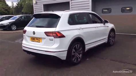 volkswagen tiguan 2016 white volkswagen tiguan r line tdi bmt 4motion dsg white 2016