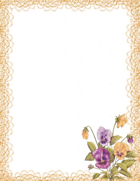 Floral Stationery Theme Free Page 2 Floral Stationery Template