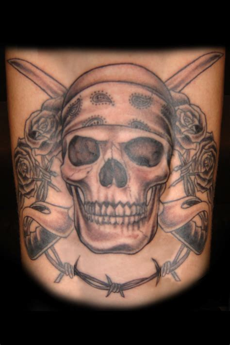 bandana tattoos top skull with bandana tattoos images for tattoos