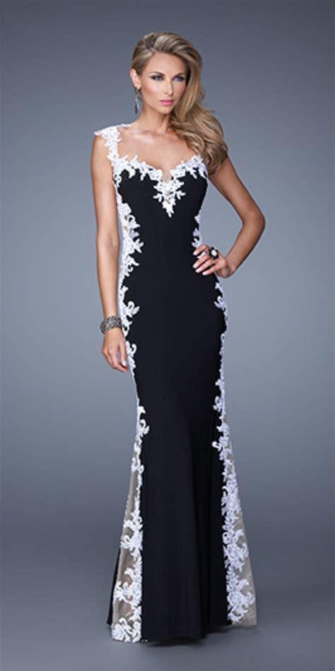 design dress black and white la femme 20895 dress 498