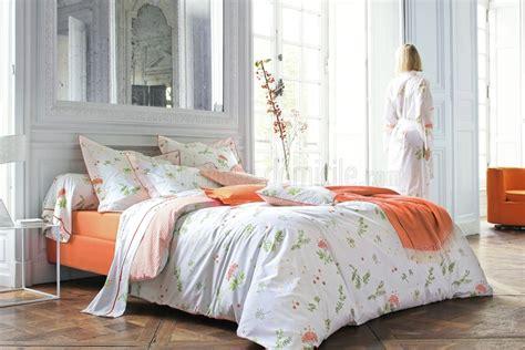linge de lit des vosges linge de lit bucolique orange de blanc des vosges