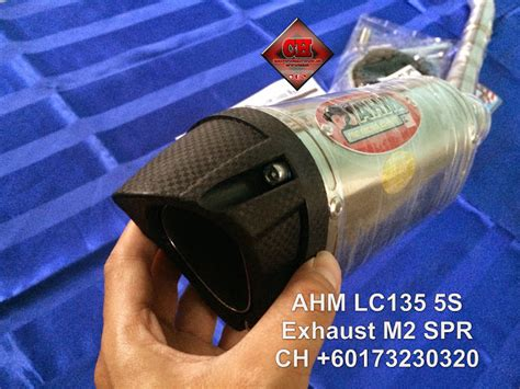 Ahm Exhaust M2 Series ch motorcycle store ahm lc135 exhaust m2 spr