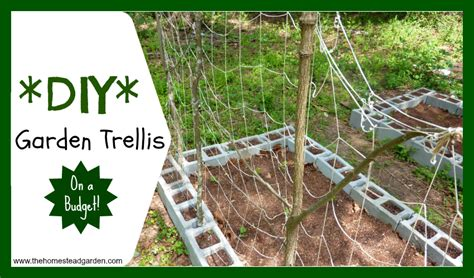 building a garden trellis diy garden trellis the homestead garden