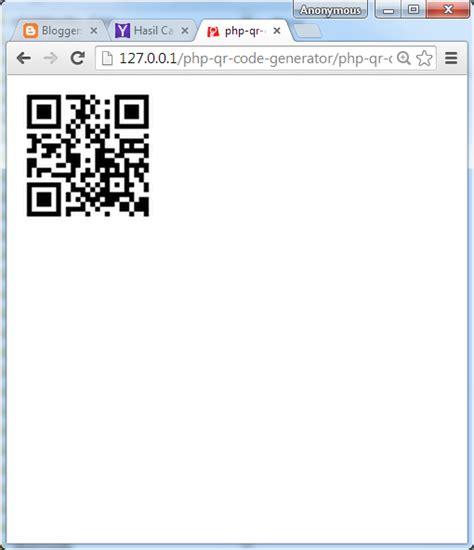 membuat qr code php tutorial pemrograman dan source code android web mobile