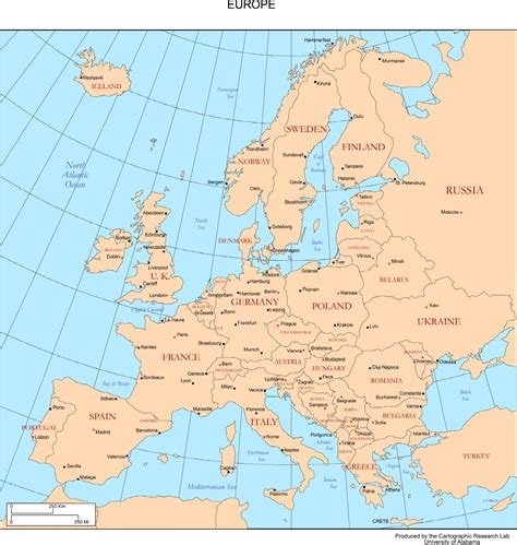 European Cities Map by Map Of Europe Countries And Major Cities Allotherplaces Org