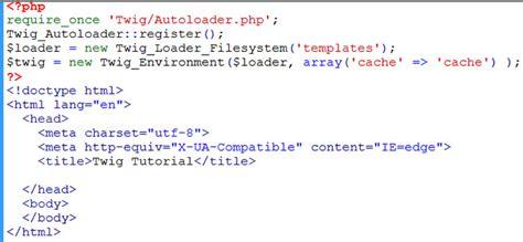 tutorial twig php beginning twig templating tutorial learn web tutorials