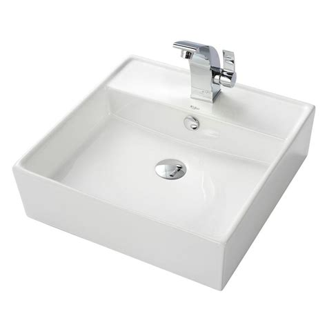 White Vessel Sink With Faucet by Vessel Sink In White With Illusio Vessel Sink Faucet In