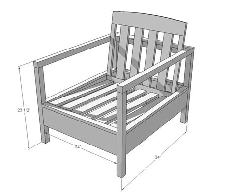 plans do it yourself furniture ana white build a simple white outdoor chair free and