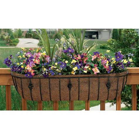 Balcony Trough Planter by Pots And Planters Troughs And Deck Rail Planters