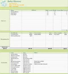 baby shower planning template baby shower planner for excel 2010 or newer excel 2010