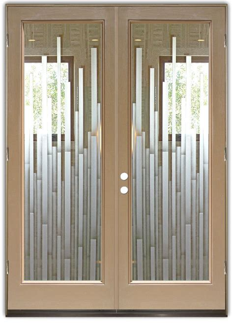 mosaics  double entry doors hand crafted sandblast
