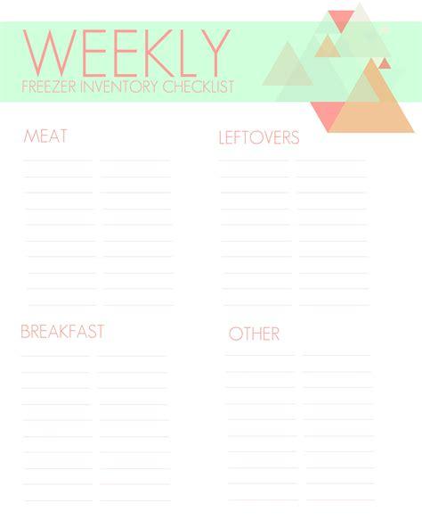 printable checklist freezer inventory printable checklist living la vida holoka