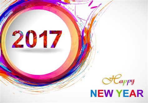 new year vector happy new year 2017 on grey background free