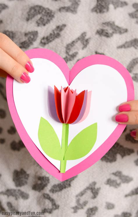 tulip template card tulip in a card easy peasy and